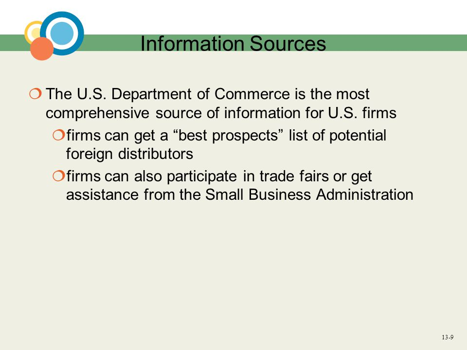13-10 Utilizing Export Management Companies Question: What assistance can exporters get from export management companies.
