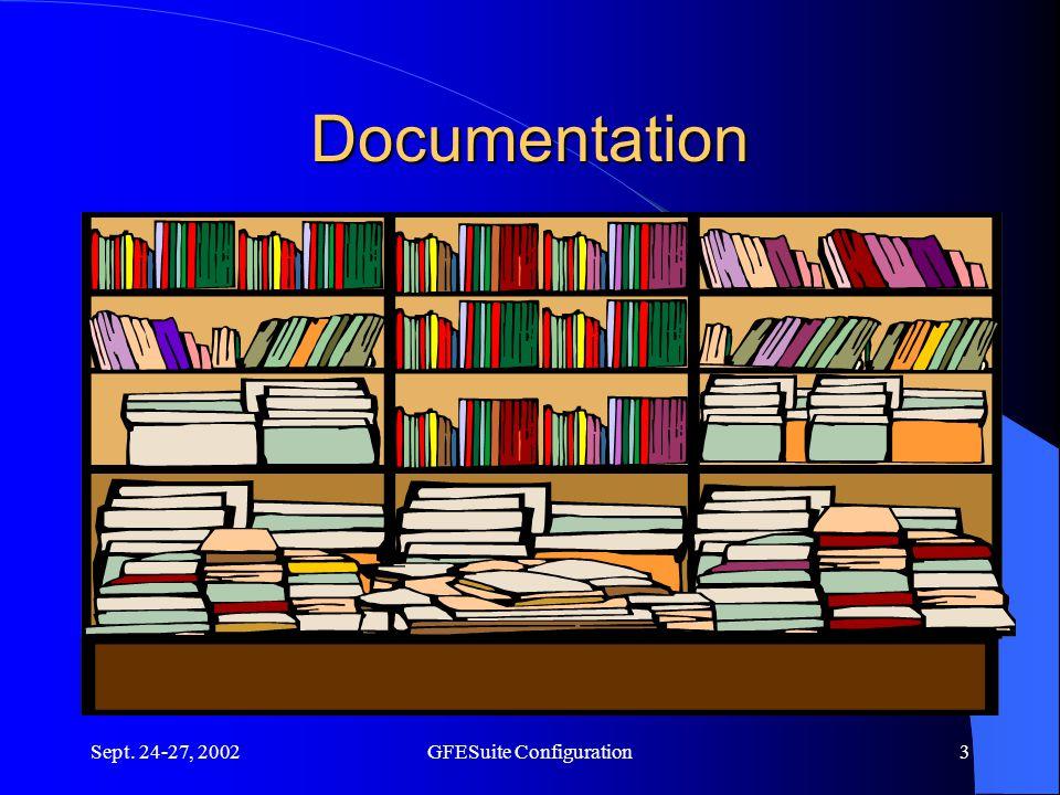 Sept. 24-27, 2002GFESuite Configuration3 Documentation