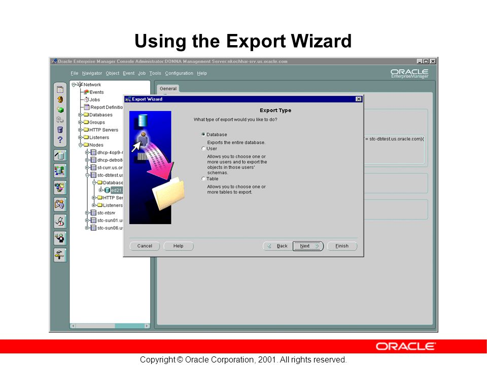 Using the Export Wizard
