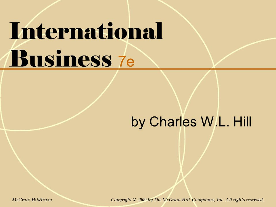 International Business 7e by Charles W.L.