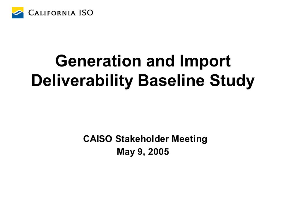 32 Identified Generation Data Issues 1.For some units, conflicting capacity data was provided by the generation owner and the generation power purchasing utility, due to their different interpretations of the Qualifying Capacity definitions in the CPUC's Resource Adequacy Workshop Report The highest capacity value was tested in the base case.