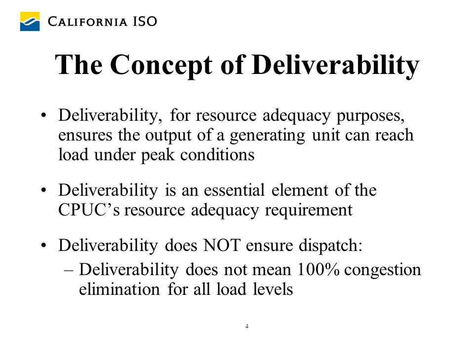5 The Concept of Deliverability (continued) Resources considered in deliverability include: – Existing generators (for aggregate of load) –Imports –Generators within transmission-constrained areas –New generation interconnections