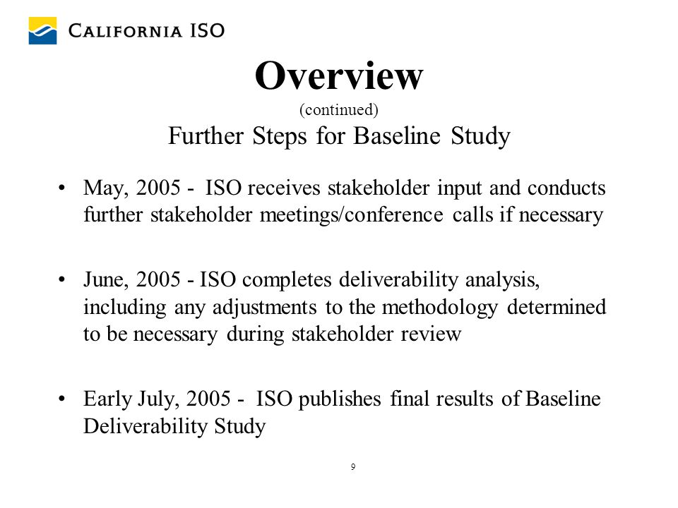 20 Generation Deliverability Baseline Analysis First we need to apply deliverability test to existing system: –Validate deliverability test methodology and parameters –Identify all overloads –Mitigate overloads Once all overloads in baseline analysis are mitigated, then new overloads that are identified (using the same test) can be consistently and equitably assigned to proposed new generation projects