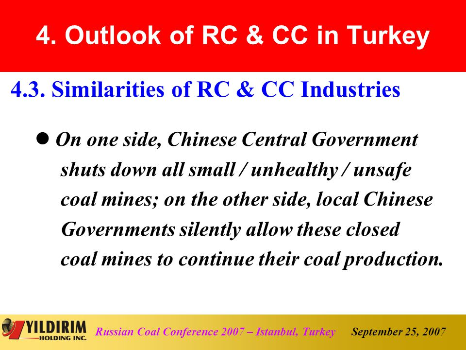 September 25, 2007Russian Coal Conference 2007 – Istanbul, Turkey 4.3.