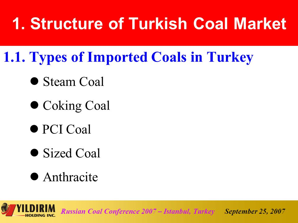 September 25, 2007Russian Coal Conference 2007 – Istanbul, Turkey 5.2.