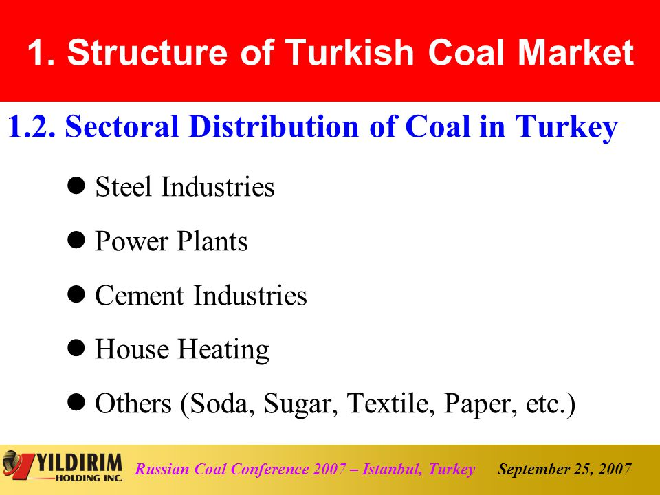 September 25, 2007Russian Coal Conference 2007 – Istanbul, Turkey 1.