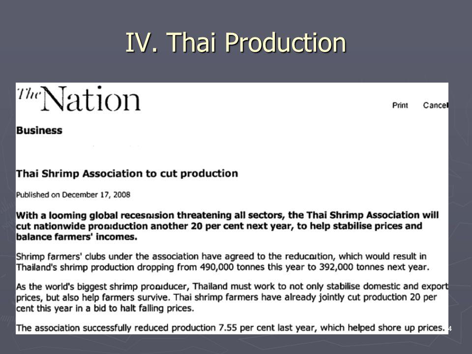 34 IV. Thai Production
