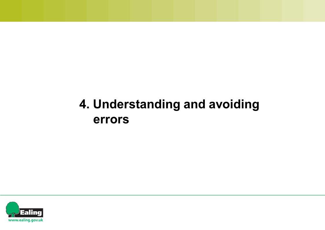 4. Understanding and avoiding errors