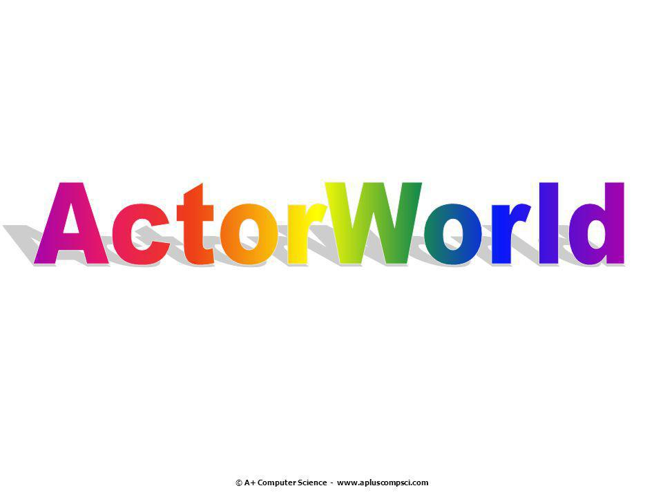 ActorWorld frequently used methods NameUse ActorWorld()creates a new world using 10X10 grid ActorWorld(grid)creates a new world using grid add(loc, thang)add thang at spot loc show()makes the world visible import info.gridworld.actor.World;