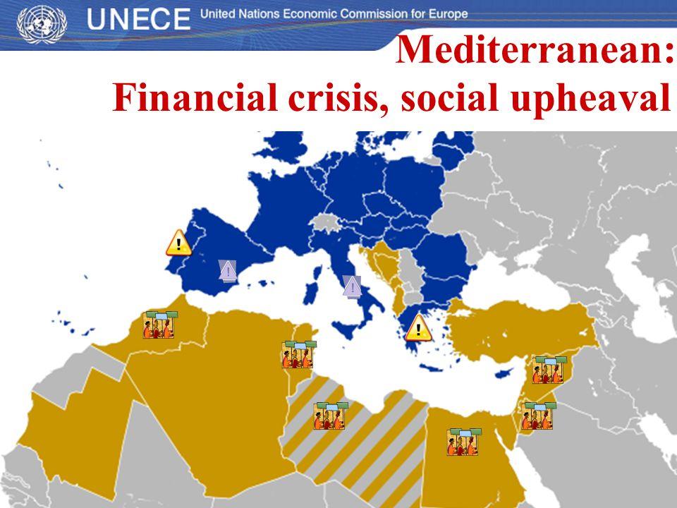 Financial crisis, social upheaval Mediterranean: