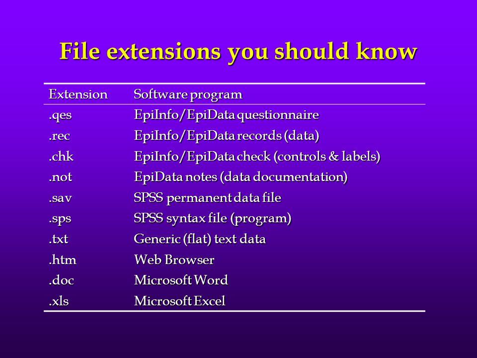 Filenaming and File Management c:\path\filename.extc:\path\filename.ext A web address is a good example of a filename, e.g., http://www2.sjsu.edu/facu