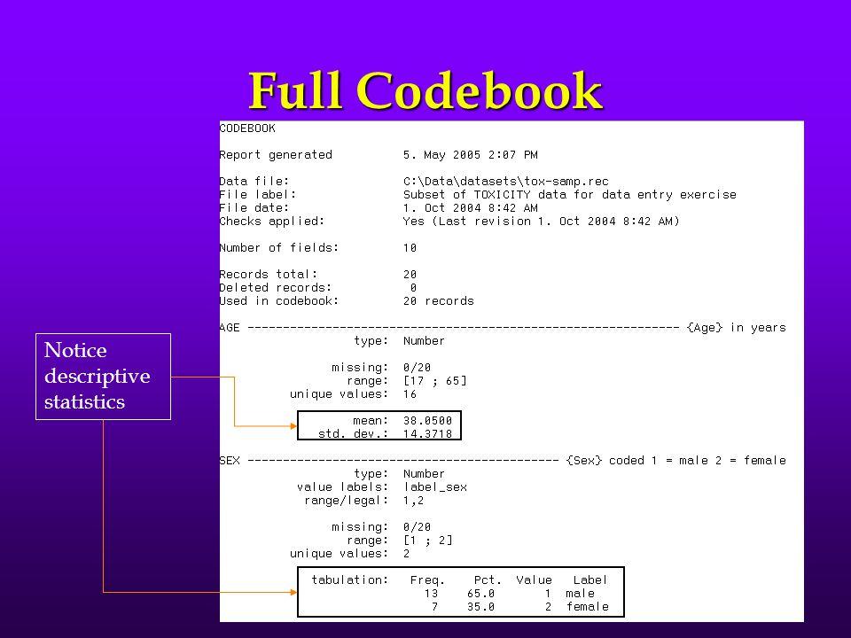 File Structure Codebook Full codebook contains descriptive statistics (demo)