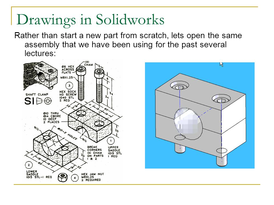 Drawings in Solidworks Choose the FRONT view, the click, then move UPWARD.