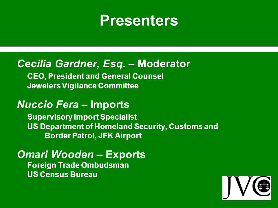 Presenters Cecilia Gardner, Esq.