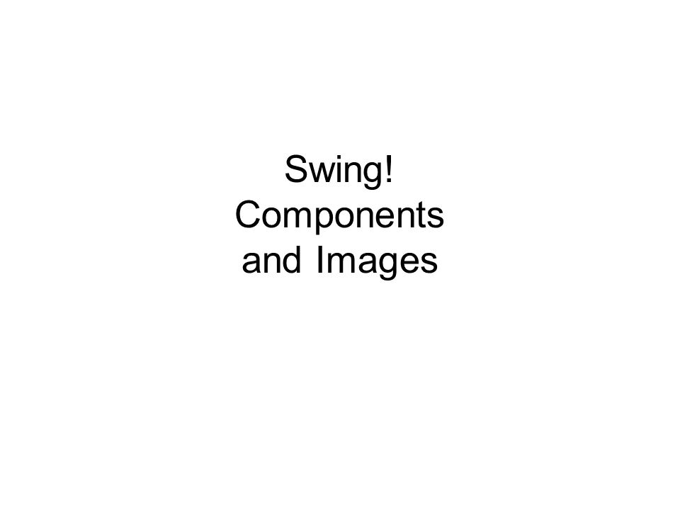 Swing! Components and Images