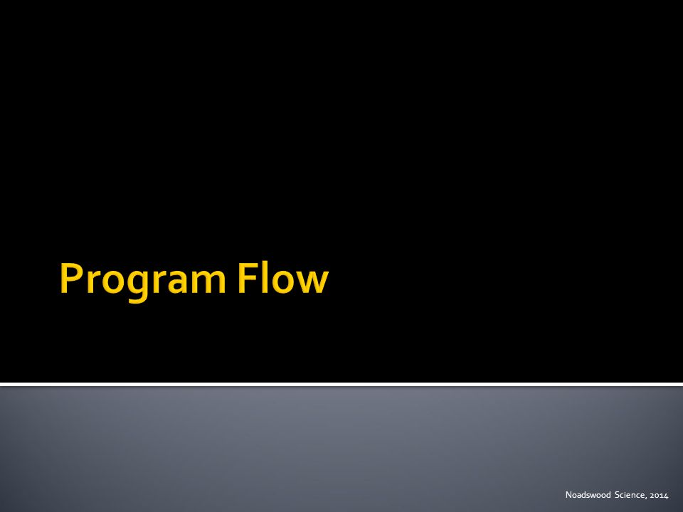  To understand the flow procedure when writing programs Thursday, January 15, 2015