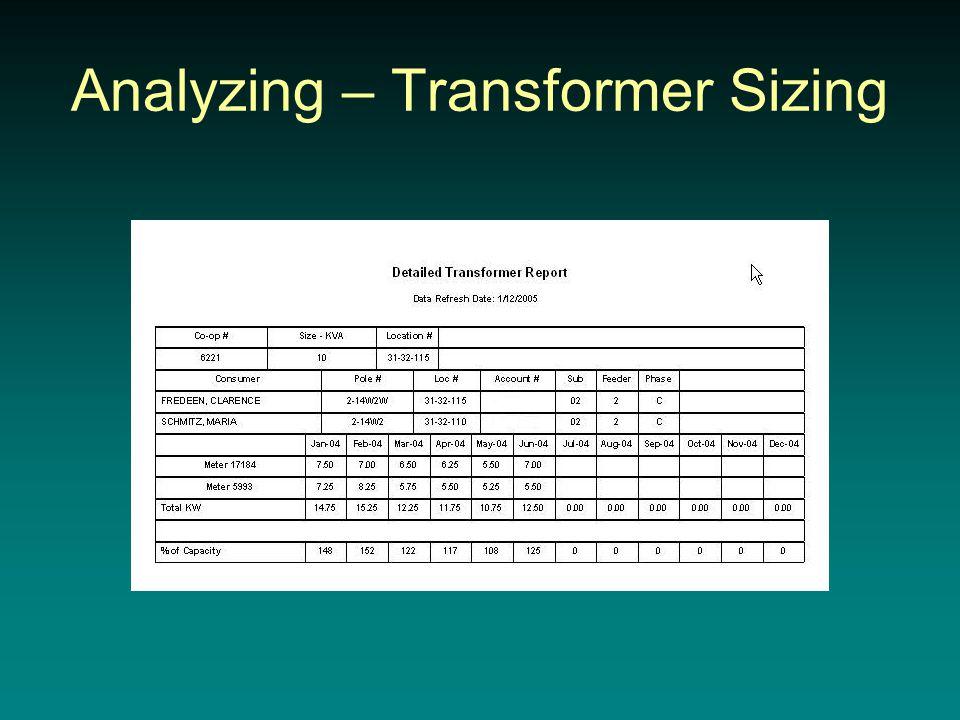 Analyzing – Transformer Sizing
