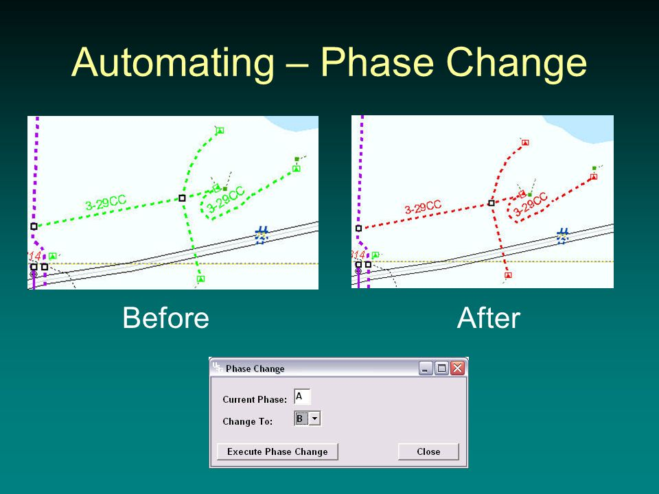 Automating – Phase Change BeforeAfter