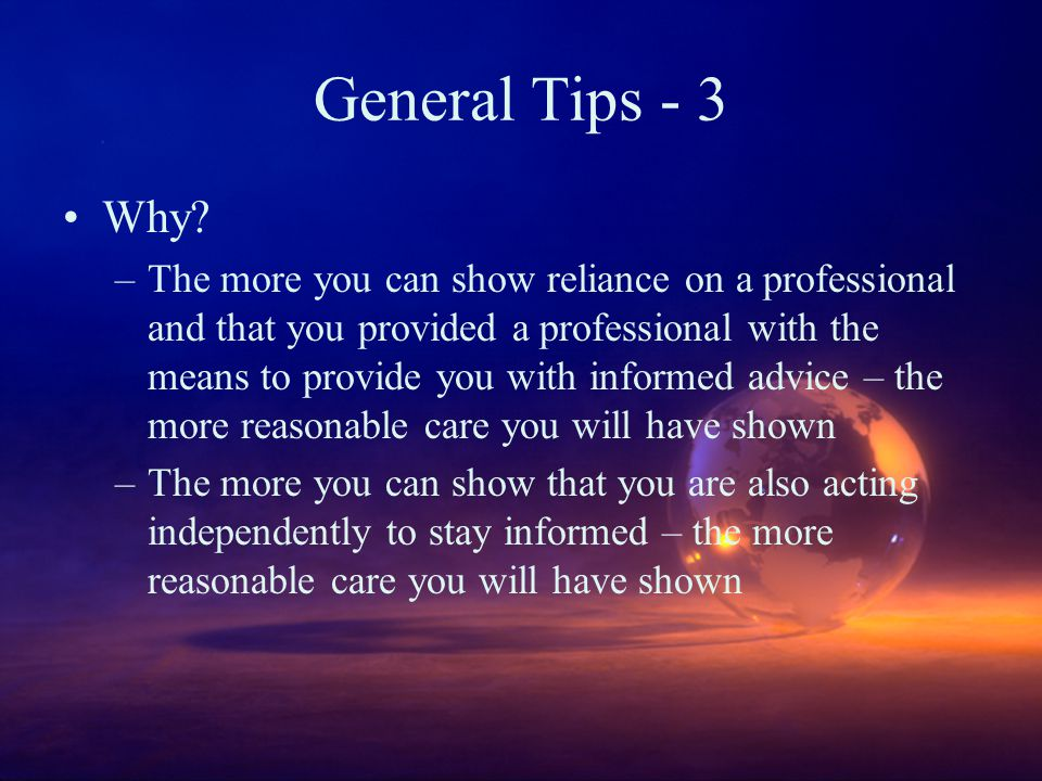 General Tips - 3 Why.