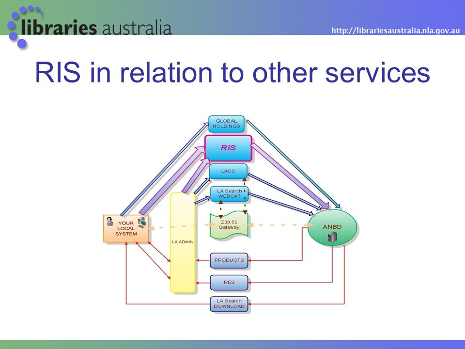 RIS in relation to other services
