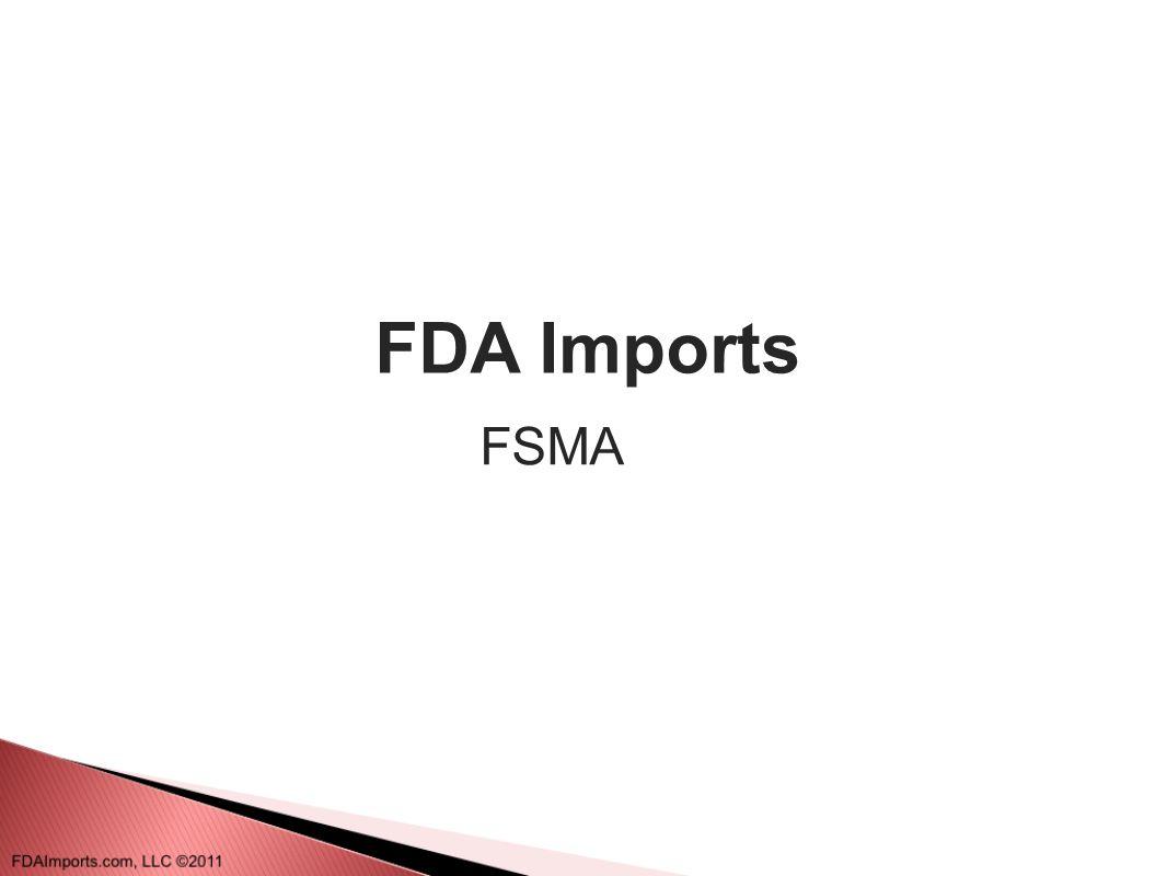 FDA Imports FSMA