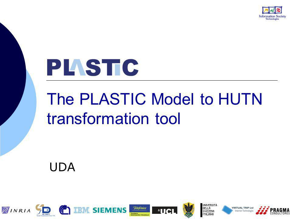 The PLASTIC Model to HUTN transformation tool UDA