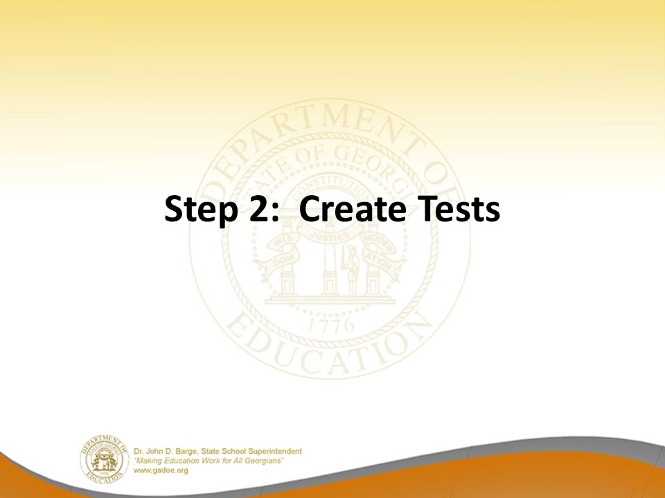 Step 2: Create Tests