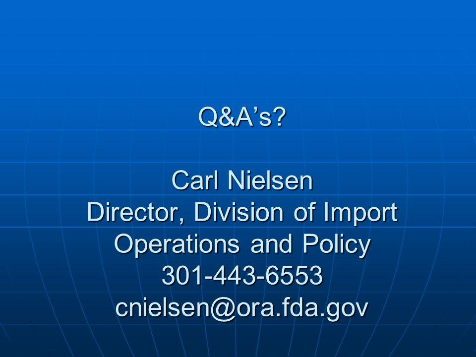 Q&A's.