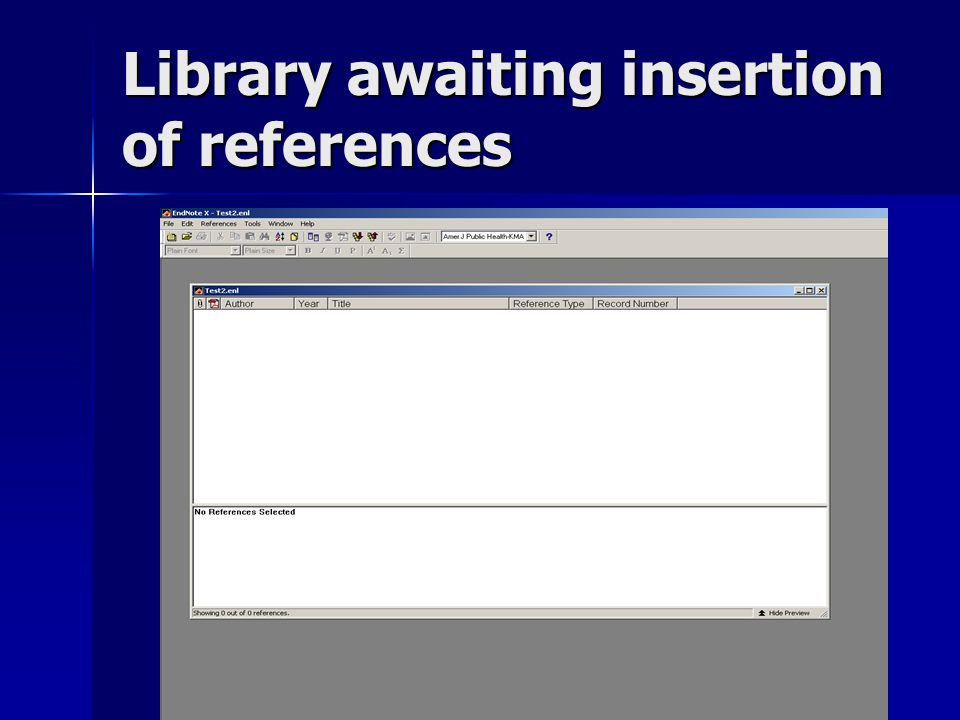 Library awaiting insertion of references