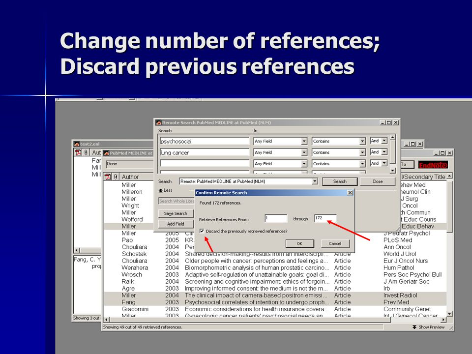 Change number of references; Discard previous references
