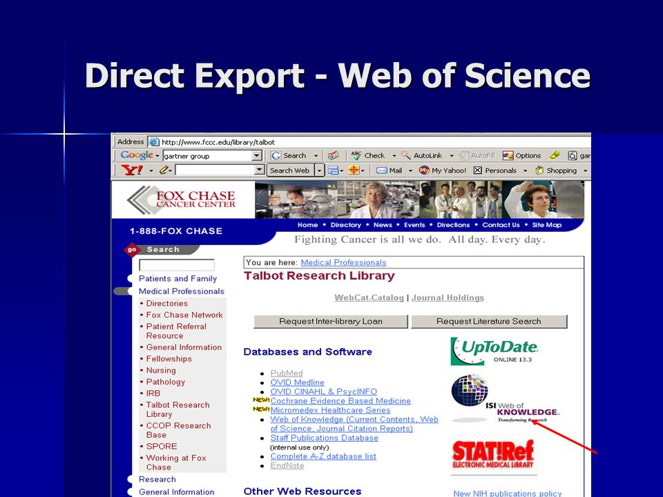 Direct Export - Web of Science