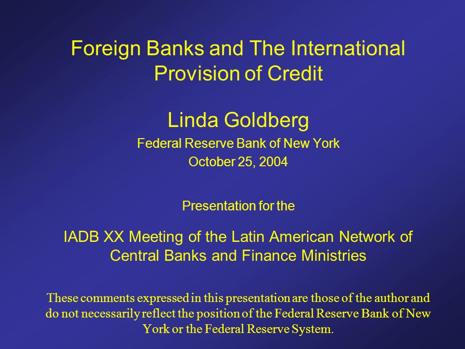 Both foreign banks (multinationals) and domestic banks are pro-cyclical suppliers of credit.