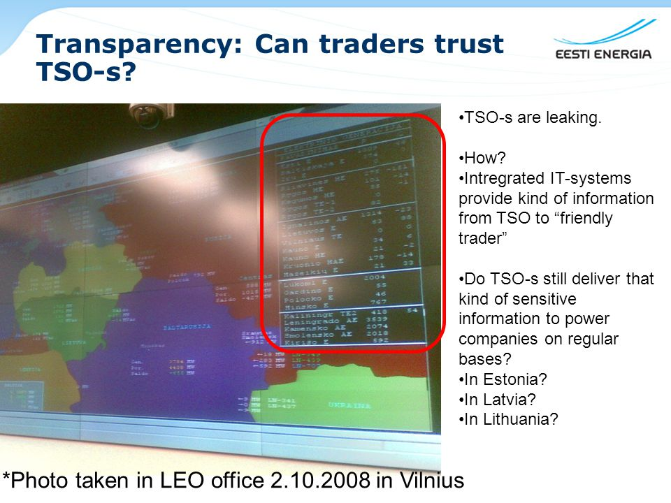 Transparency: Can traders trust TSO-s.