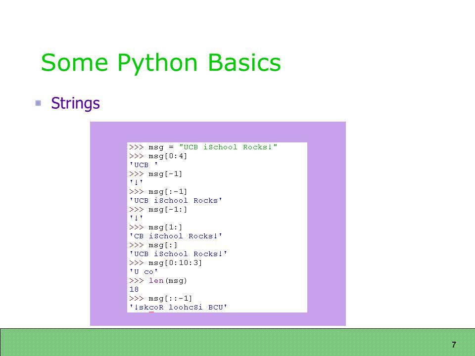 7 Some Python Basics Strings
