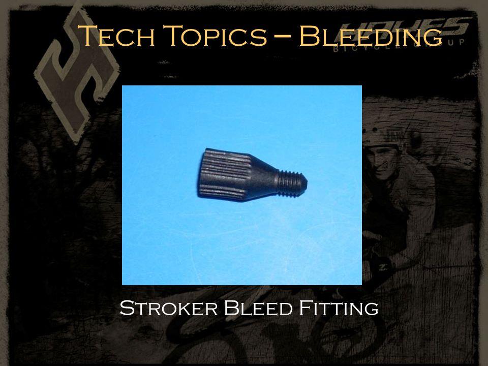 Stroker Bleed Fitting