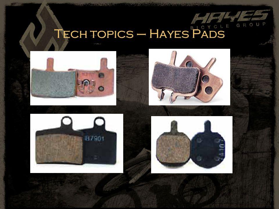 Tech topics – Hayes Pads