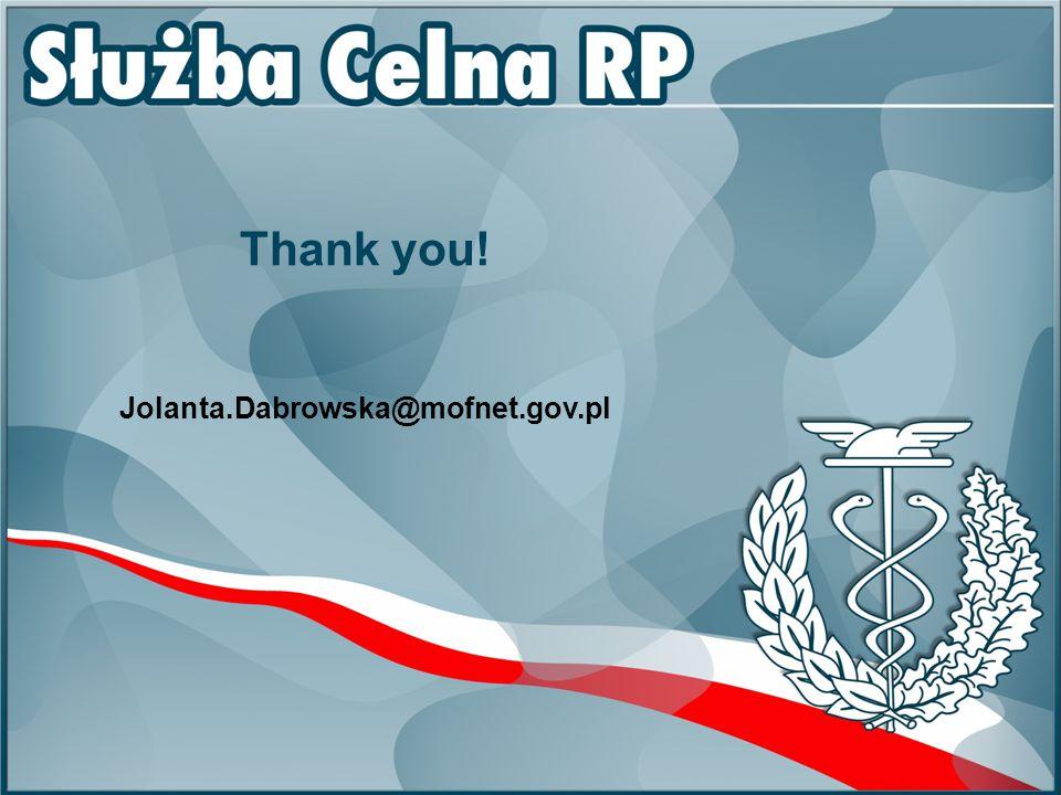 Thank you! Jolanta.Dabrowska@mofnet.gov.pl