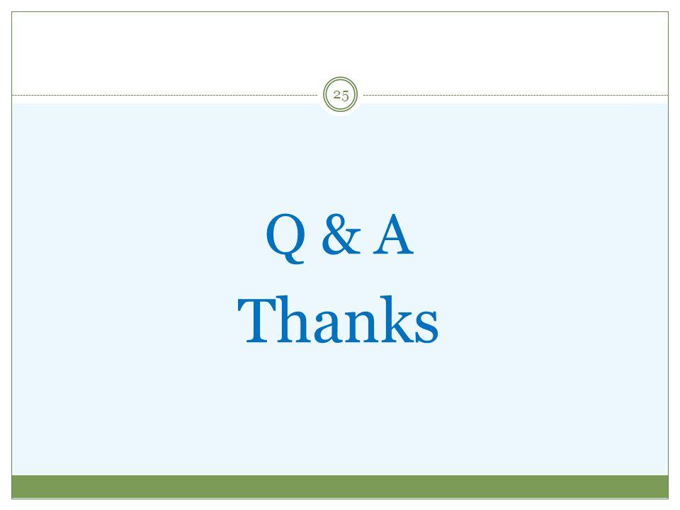 Q & A Thanks 25