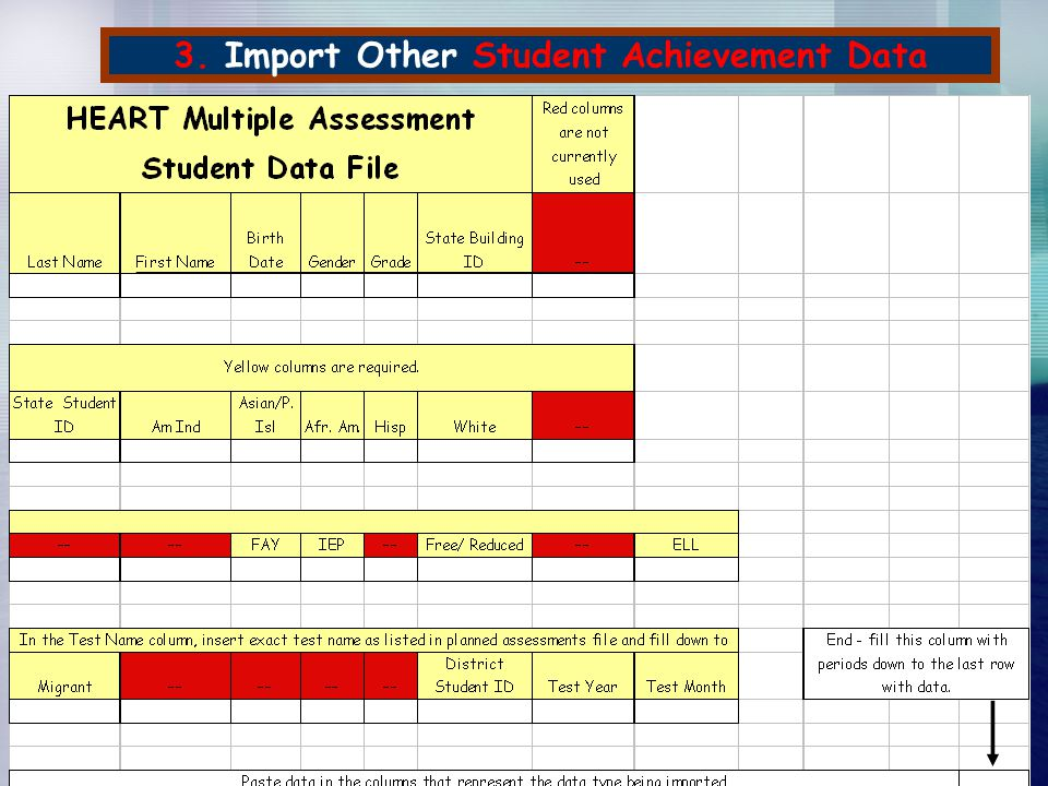 3. Import Other Student Achievement Data This is the current draft of the template. Programming changes to implement it aren't ready yet. This templat