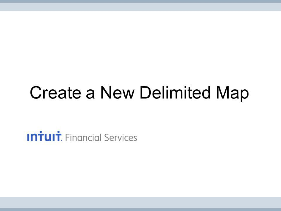 Create a New Delimited Map