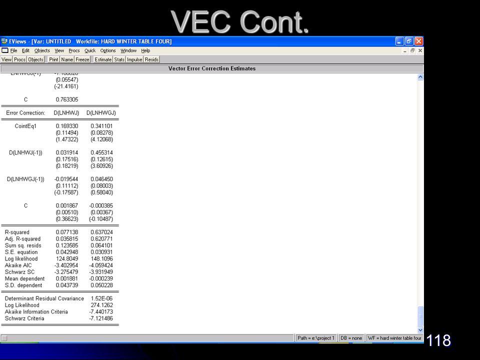 118 VEC Cont.