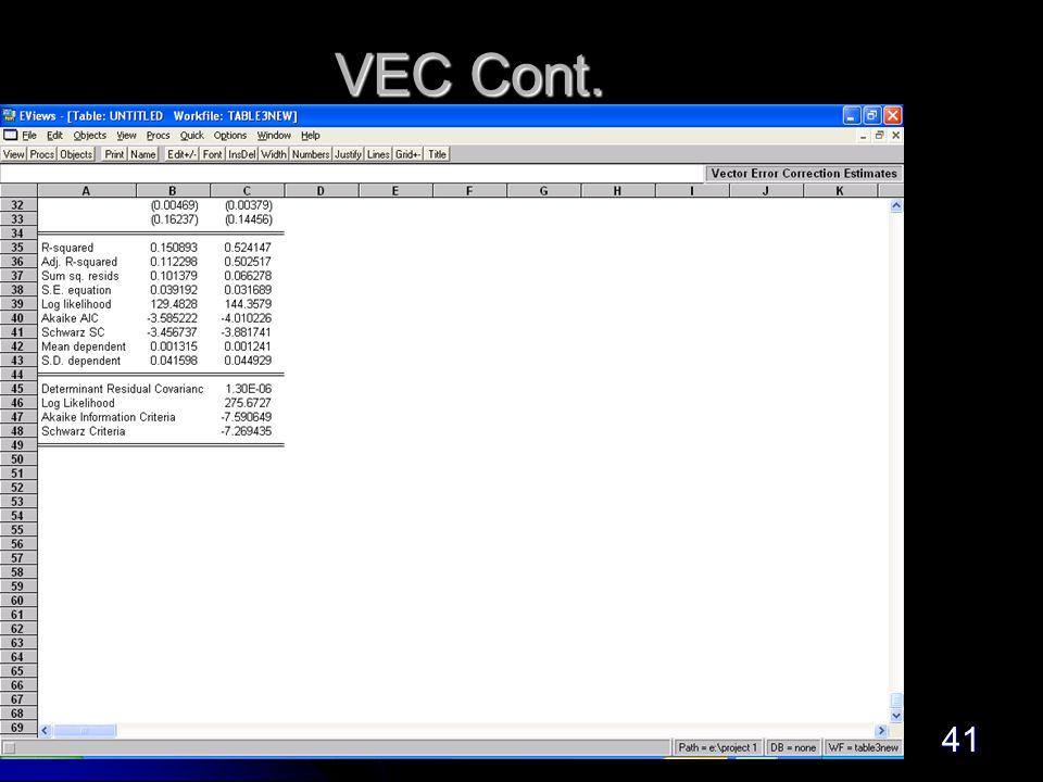 41 VEC Cont.
