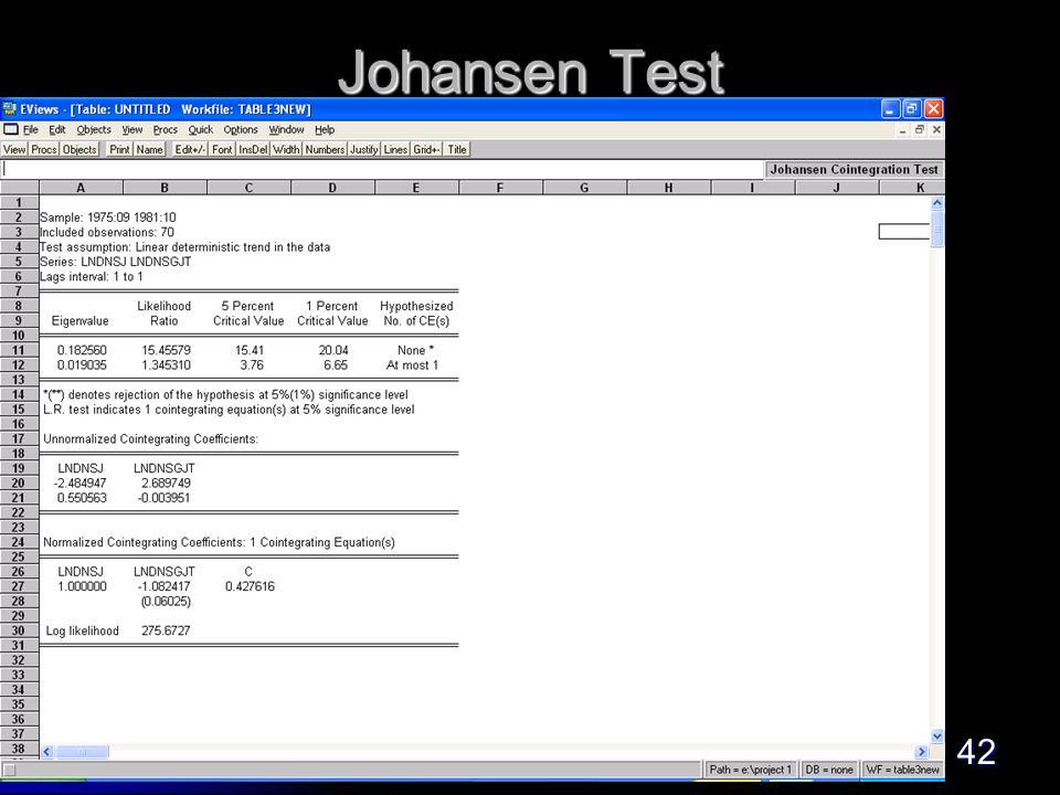 42 Johansen Test
