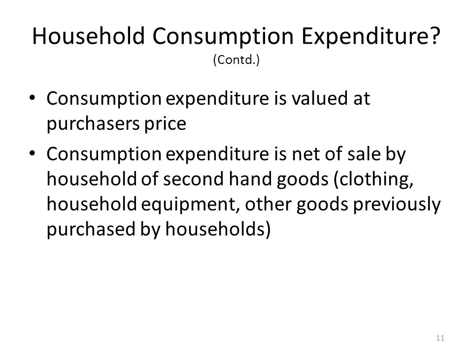 Household Consumption Expenditure.