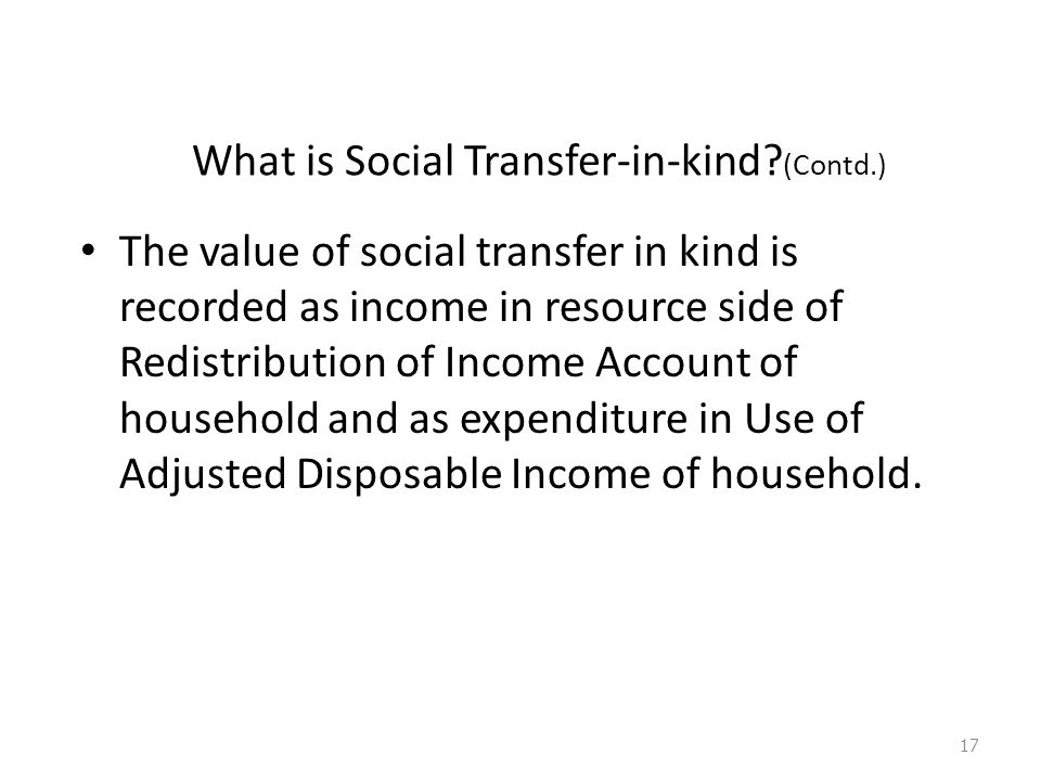 What is Social Transfer-in-kind.