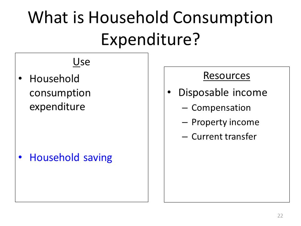 What is Household Consumption Expenditure.