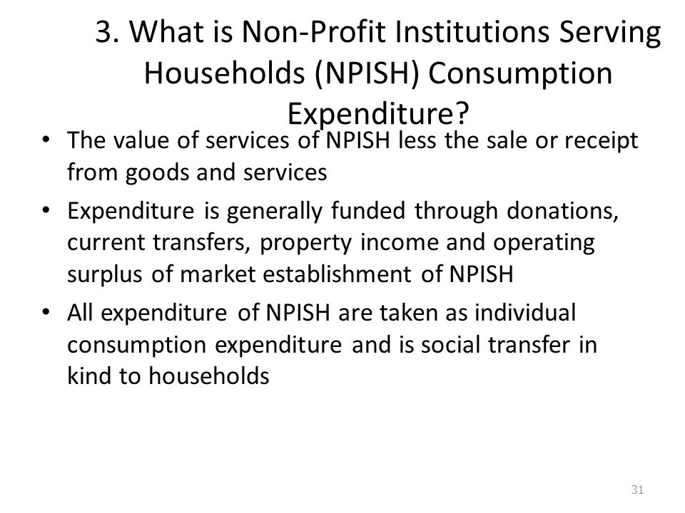 3. What is Non-Profit Institutions Serving Households (NPISH) Consumption Expenditure.