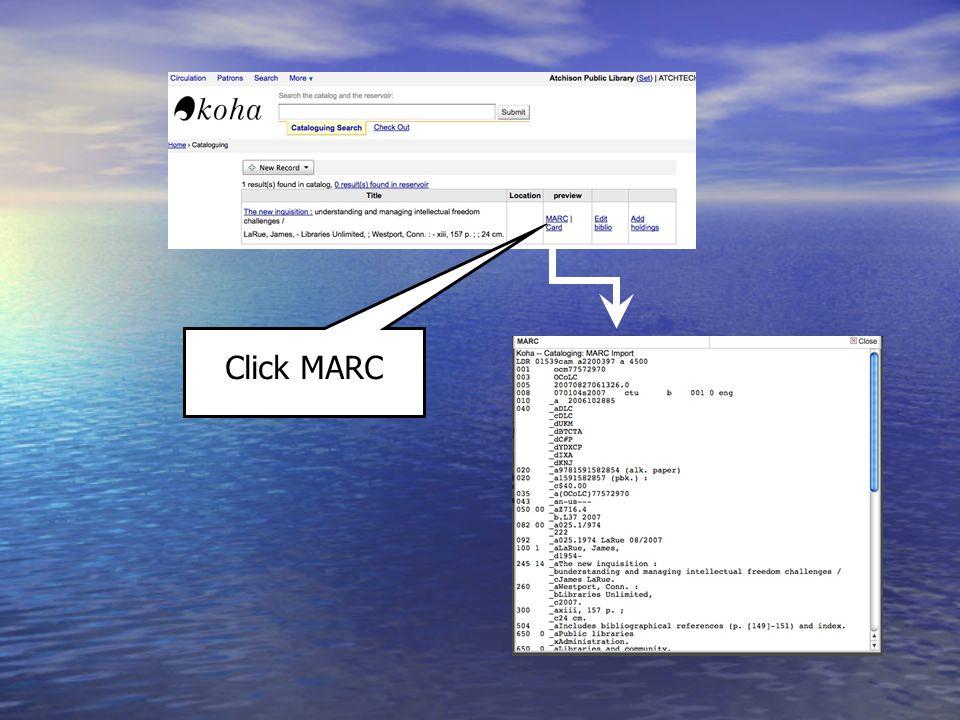 Click MARC