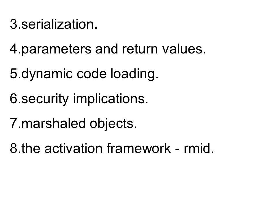 Running the environment command lines: Lookup server: java -Djava.security.policy=/usr/local/Java/jini1_1 /example/lookup/policy.all policy -jar /usr/local/Java/jini1_1/lib/reggie.jar lookup service http://silver.cs.bgu.ac.il:8087/reggie-dl.jar codebase /usr/local/Java/jini1_1/example/lookup/policy.all /tmp/reggie_log1 public& policy
