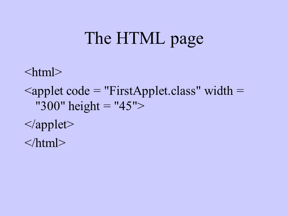 The HTML page